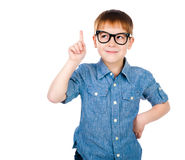 Little boy with glasses Stock Image