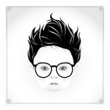 Little boy with glasses Royalty Free Stock Images