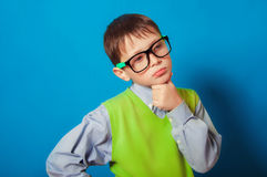 Little boy with glasses for vision Royalty Free Stock Photos