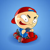 Little boy go kart Stock Photos