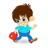 Little boy going to school Stock Photos