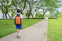 Little boy going to school Royalty Free Stock Photos