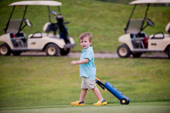 Little Boy golfista Zdjęcie Royalty Free
