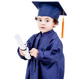 Little boy graduating Royalty Free Stock Photo