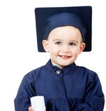 Little boy graduating Royalty Free Stock Photography