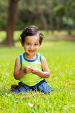 Little boy grass Stock Photography