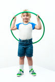 Boy with hoop Royalty Free Stock Image