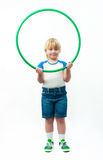 Boy with hoop Stock Photos
