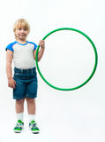 Boy with hoop Stock Image
