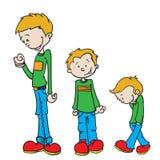 Little boy grow Royalty Free Stock Image