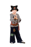 Little boy dressed as a pirate Stock Images