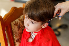 Little boy haircut Stock Image