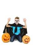 Little boy in halloween costume Stock Photo