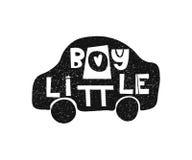 Little Boy Hand gezeichnetes Arttypographieplakat Stockbild