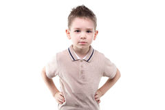 Little boy with hands on hips Royalty Free Stock Photo