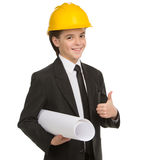 Little boy in hardhat. Stock Photography