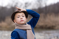Little boy in a hat Royalty Free Stock Photos