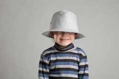 Little boy in a hat Royalty Free Stock Photo
