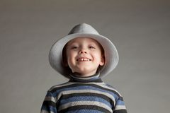 Little boy in a hat Stock Image