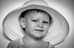 Little boy in a hat Stock Images