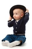 Little boy with hat Stock Photography