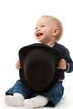Little boy with hat Stock Photos