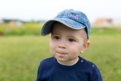 Little boy in hat Royalty Free Stock Photos
