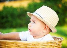 Little boy in a hat Stock Photography