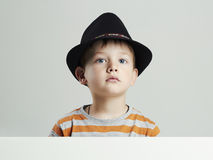 Little boy in hat.funny child Royalty Free Stock Photo
