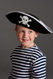 Little boy in hat of pirate Royalty Free Stock Images