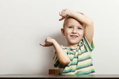 Little boy have fun with funny gestures Royalty Free Stock Images