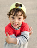 The little funny boy closeup portrait in good mood Royalty Free Stock Photography