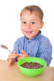 Little boy having breakfast Royalty Free Stock Photos