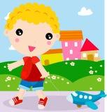 Little boy having fun Stock Photos