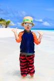 Little boy having fun on beach vacation Royalty Free Stock Image