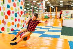 Little boy having fun in entertainment center Stock Photo