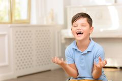Little boy having fun Royalty Free Stock Photo