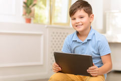 Little boy having fun Royalty Free Stock Images