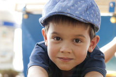 Little boy having fun at the playground Royalty Free Stock Photography