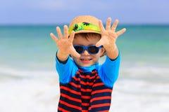 Little boy having fun on tropical beach Royalty Free Stock Photo