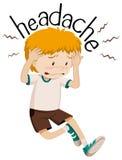 Little boy having headache Royalty Free Stock Image