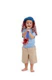 Little boy having party fun Stock Photos