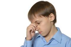 Little boy with headache Royalty Free Stock Photos