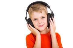 Little boy headphones Royalty Free Stock Photography