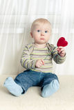 Little boy with heart Stock Photography