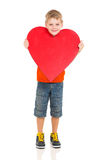 Little boy heart Stock Images