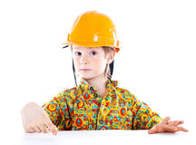 Little boy with helmet Royalty Free Stock Photos