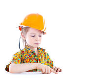 Little boy with helmet Royalty Free Stock Image