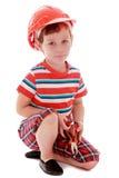 Little boy a helmet on his head Royalty Free Stock Photo
