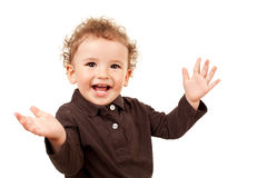 Little boy with his arms open Stock Photos